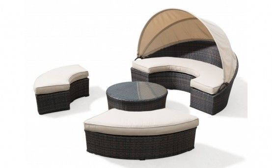 Choice Custom Home provides daybeds with ottomans and charming coffee tables.