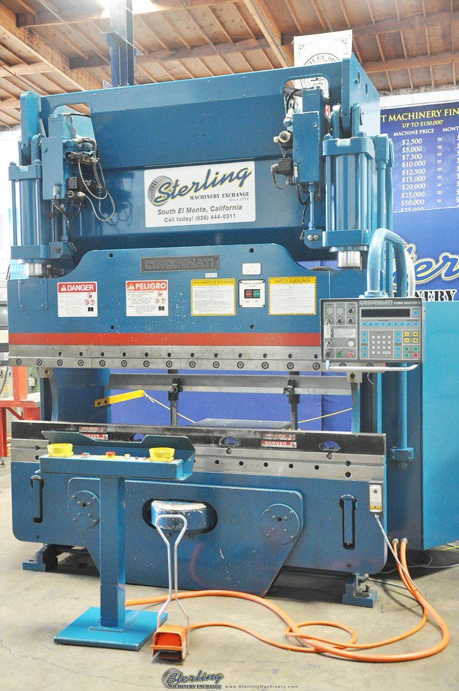 135 Ton x 12\' Used Chicago Mechanical Clutch Press Brake, Mdl. 410-D ...