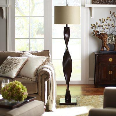 Brown twist floor lamp decorative things pinterest drum brown twist floor lamp mozeypictures Images