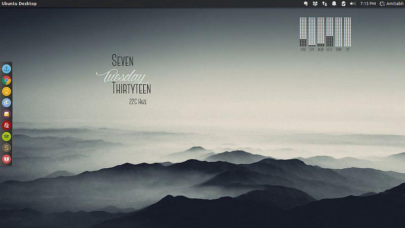 The Shadow Mountains Desktop - Color | Linux Desktops