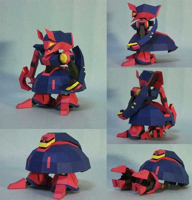 SD Transformable NRX 055 2 Baund Doc Free Gundam Paper Model Download