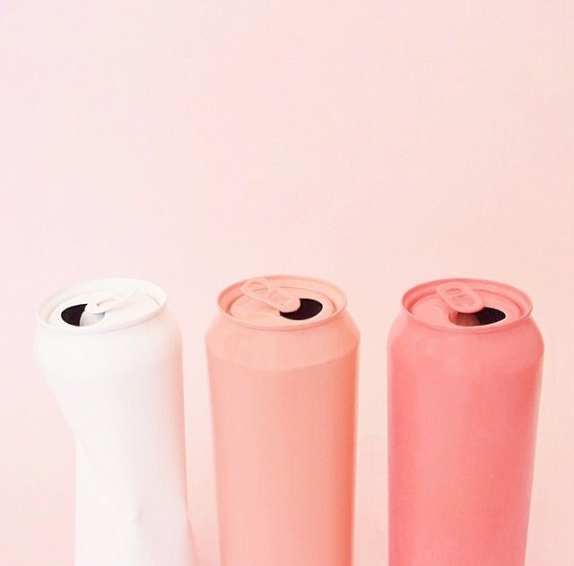 color | pink soda cans - via Clare Nicolson