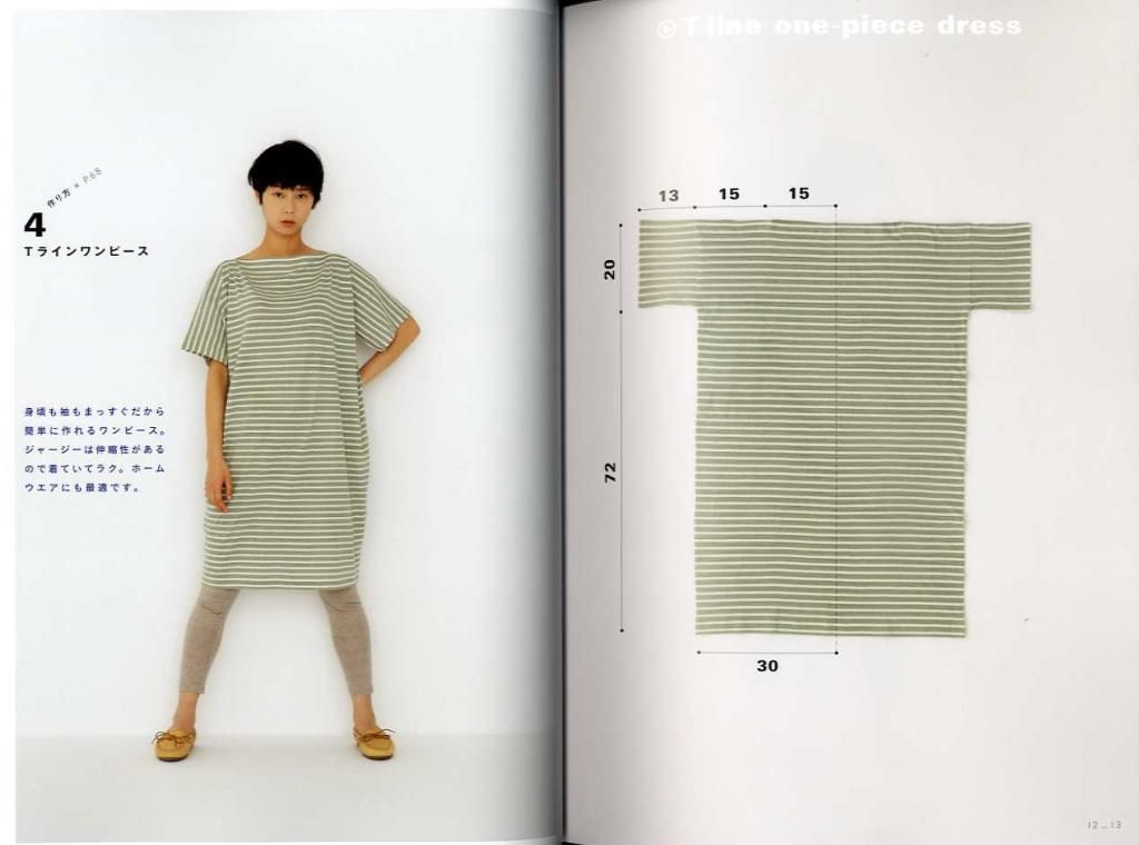 Apron & dress Yoshiko Tsukiori cute sewing straight | learn ...