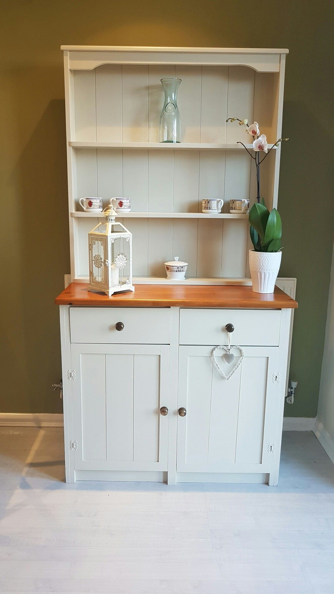 White Kitchen Dresser Unit Kitchen Dresser Unit Painted In Farrow And Ball Off White And