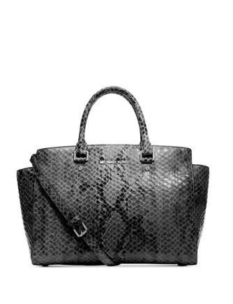 e56e4f536d819 Michael Michael Kors Large Python Selma East West Satchel