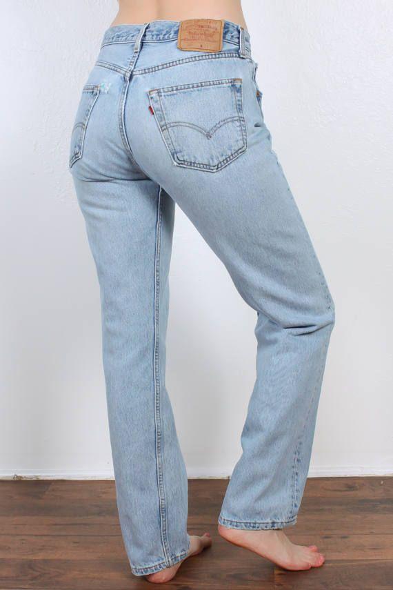d44a0008 80s Levis 501 Jeans // Vintage Denim Pants Straight Leg High Waist ...