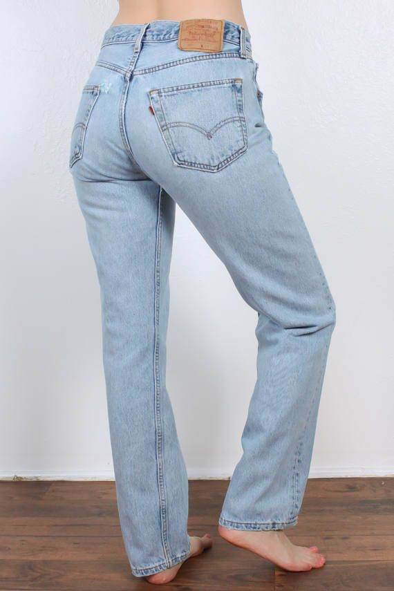 01f6ba620b 80s Levis 501 Jeans // Vintage Denim Pants Straight Leg High Waist ...