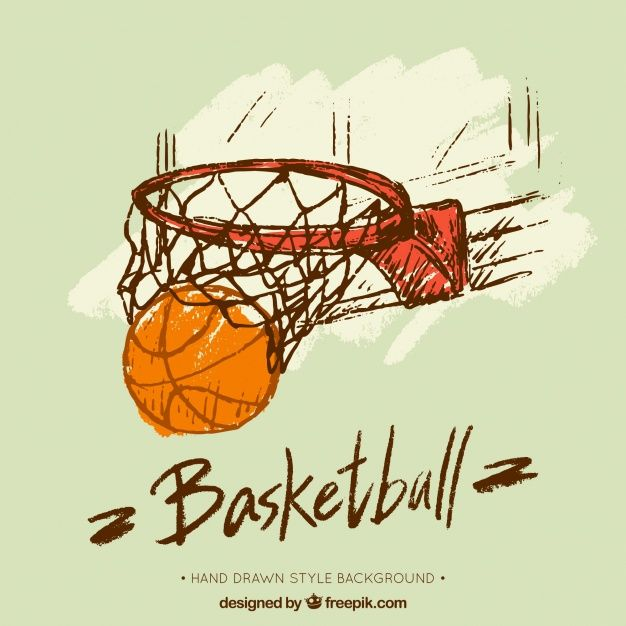 Download Hand Drawn Basketball Basket Background for free