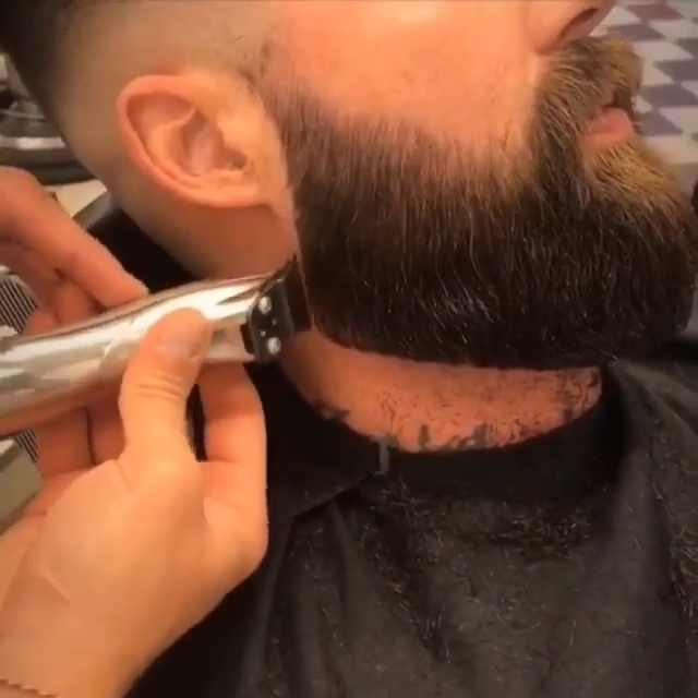 Great Beard Trim by a Pro Barber  ???????? #hairandbeardstyles