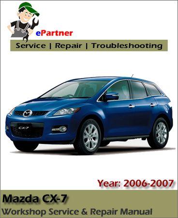 mazda cx7 workshop manual 2007 2009