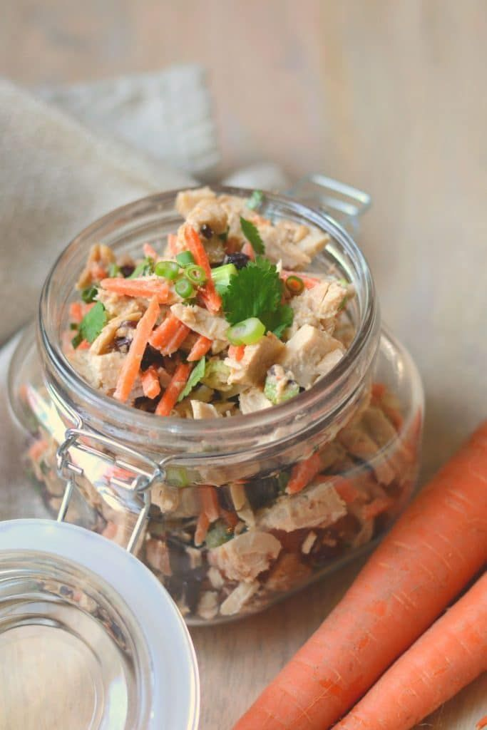 Asian Tuna Salad that's delicious and healthy. Perfect protein-packed snack or lunch idea. #tunasala...