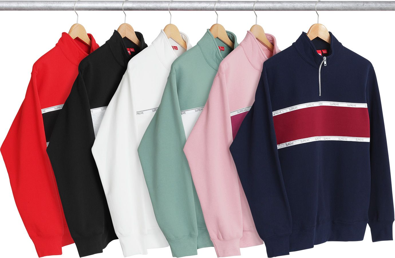 Supreme Stripe Hooded Sweatshirt Supreme Clothing Hooded Sweatshirts Sweatshirts [ 900 x 1380 Pixel ]