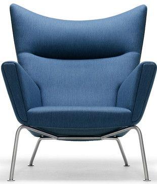Hans J Wegner Style CH445 Wing Chair