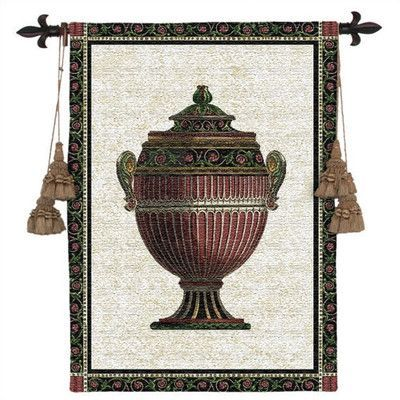 Fine Art Tapestries Still Life Empire Urn I Tapestry