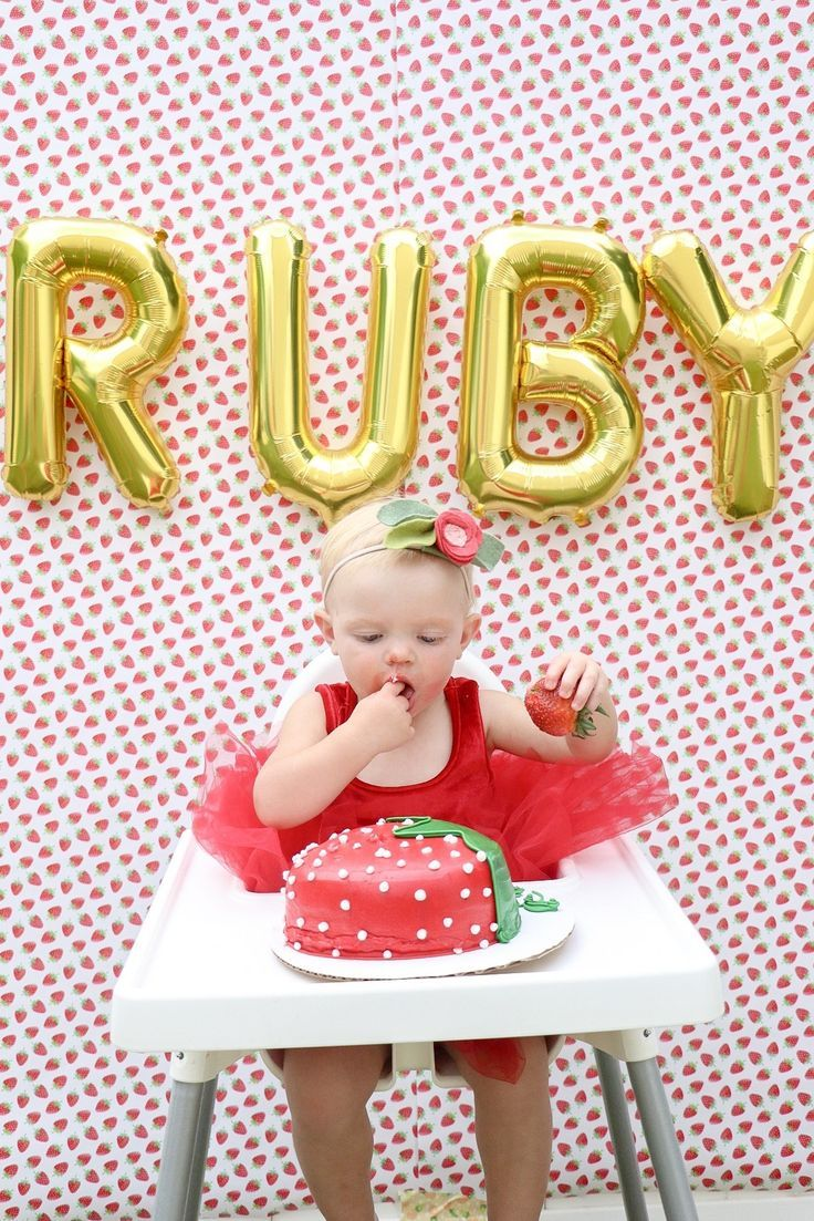 Ruby's Berry Sweet First Birthday Party in 2020 First