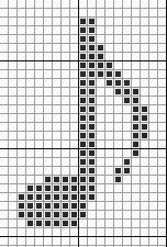 Neue Hinweiskarte könnte auch zum Stricken funktionieren. # Diagramm… – Ideen für Vorhänge   – stricken