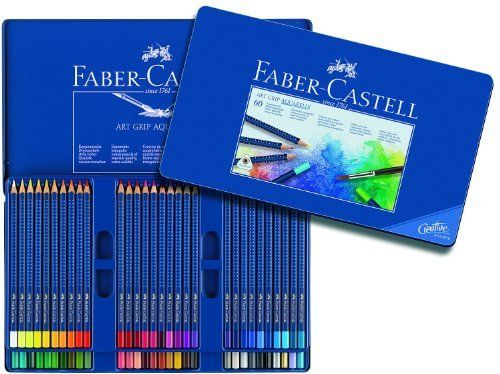 Faber Castell Art Grip Aquarelle Watercolor Pencils Tin Of 60