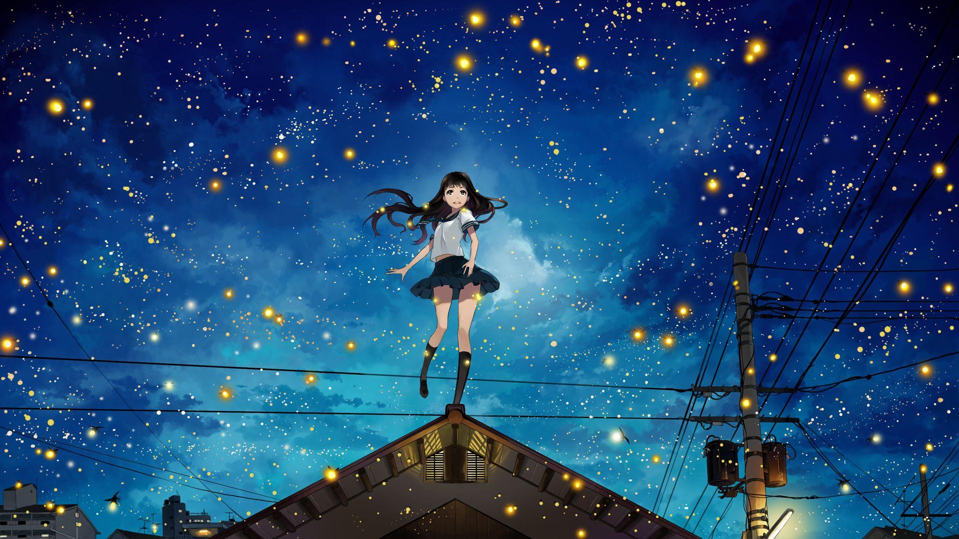 オリジナル Fireflies Justminorのイラスト イラスト アニメの
