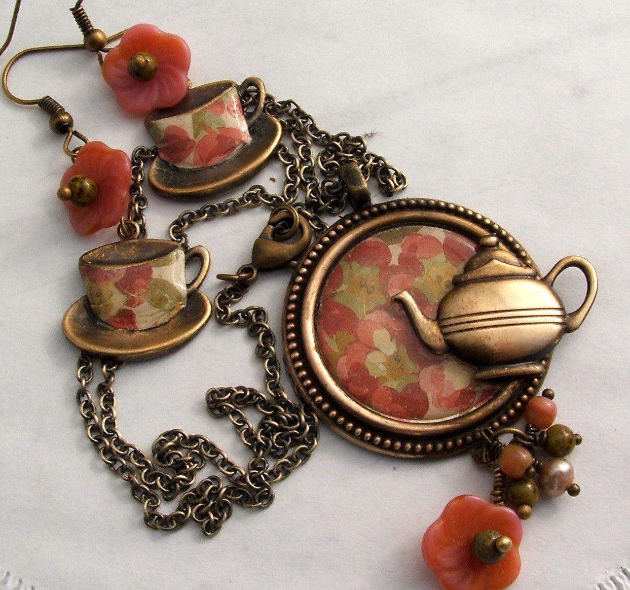 tea jewelry - Google Search