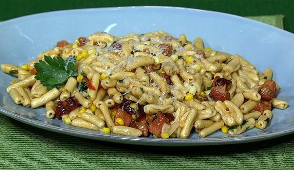 the chew   Recipe    Michael Symon's Bacon And Corn Cavatelli