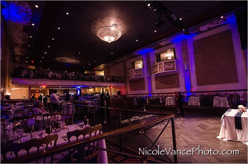 The Hippodrome Richmond Virginia Reception Blue Purple Uplighting Gorgeous Ballroom