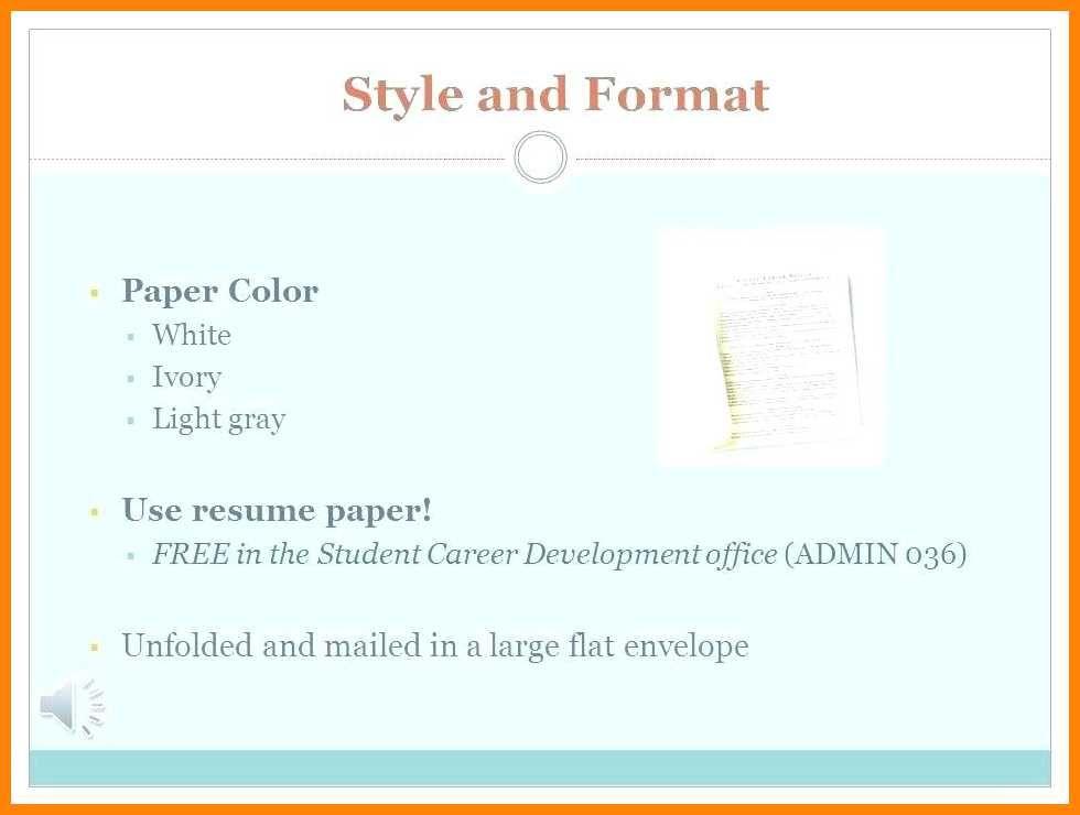 Resume Format Spacing Resume Format Resume Format Resume Career Development