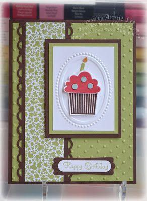 Framed Cupcake SU Card
