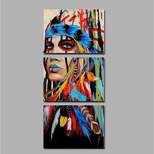 Pintura al óleo pintada a colgar Pintada a mano - Personas Étnico e ... 62f7327457b