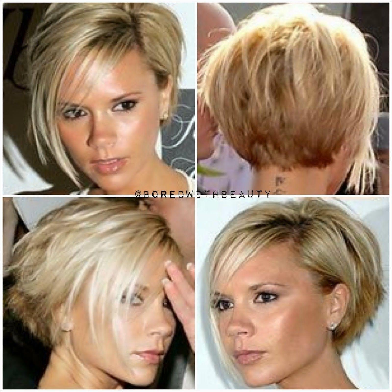 Front And Back Views Of Short Haircuts Beckham Hair Front Hair Styles Victoria Beckham Hair