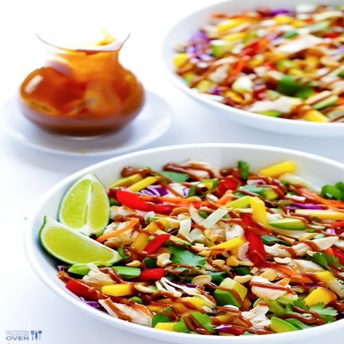 rainbow thai chicken salad recipe