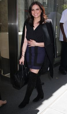 Lana arriving at Sirius XM Studios :