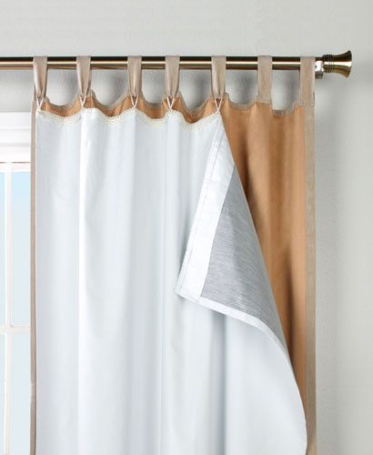 3 Pass Blackout Drapery Lining Darkens Easy to Sew! Drapes Beautifully White