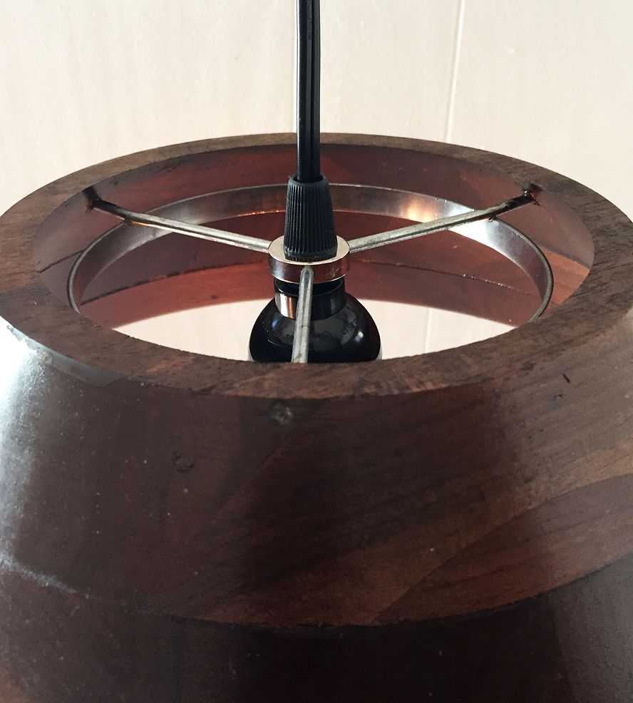 Amish Wood Bowl Pendant Light by October Design Co. on Scoutmob