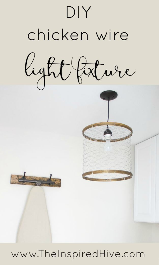 Diy lighting ideas and cool diy light projects for the home diy diy lighting ideas and cool diy light projects for the home diy chicken wire light fixture easy diy ideas for chandeliers lights lamps solutioingenieria Image collections