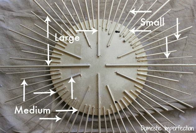 DIY Gold Sunburst Mirror
