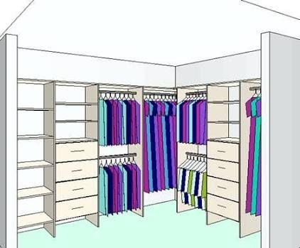 L shaped walk in robe google search wardrobe for Walk in closet india