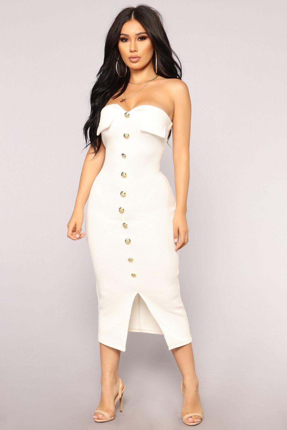 Key To My Heart Tube Dress White Tube dress, Fashion