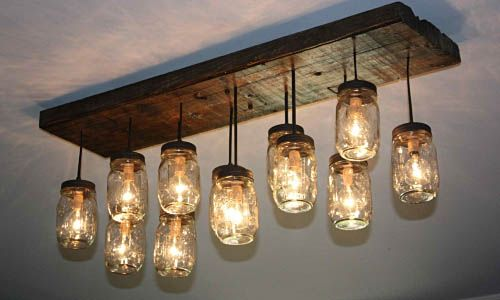 34 Fabulous Mason Jar Lights Interior Design Inspirations For