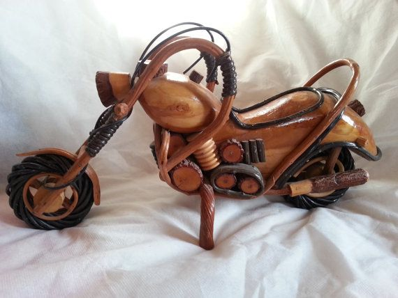 Items Similar To Wood Motorcycle,Home Decor Motorcycle,Hand Carved Wood Art  Model Motorcycle Vehicle HARLEY DAVIDSON,Bike Carving,Office Decor  Motorcycle On ...