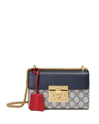 ffe0343339e3 Padlock GG Supreme Small Shoulder Bag Blue | *Neiman Marcus* | Gucci ...