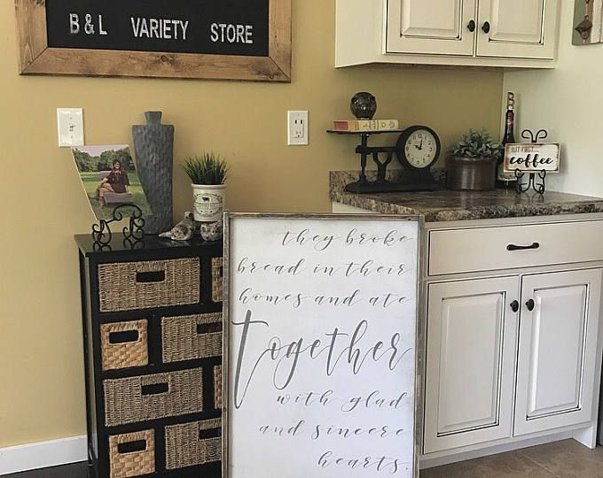They Broke Bread In Their Homes, Dining Room Sign, Dining Room Decor,  Farmhouse