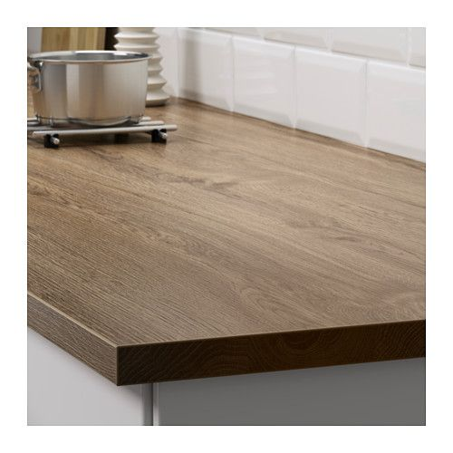 Ikea Kitchen Desk: EKBACKEN Countertop, Dark Oak Effect Dark Oak Effect 74x1