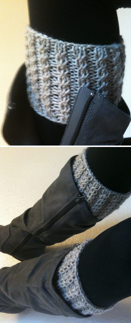 Free Knitting Pattern For Rebekahs Boot Cuffs Easy Boot Toppers