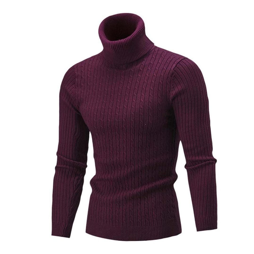Fashion Men/'s Slim Solid Long Sleeve Warm Jumpers Casual Knit Sweater Tops coat