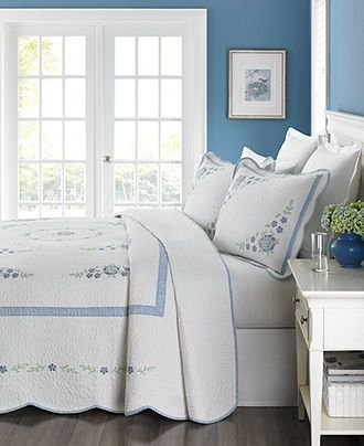 Martha Stewart Collection Park Stroll Bedspreads Quilts