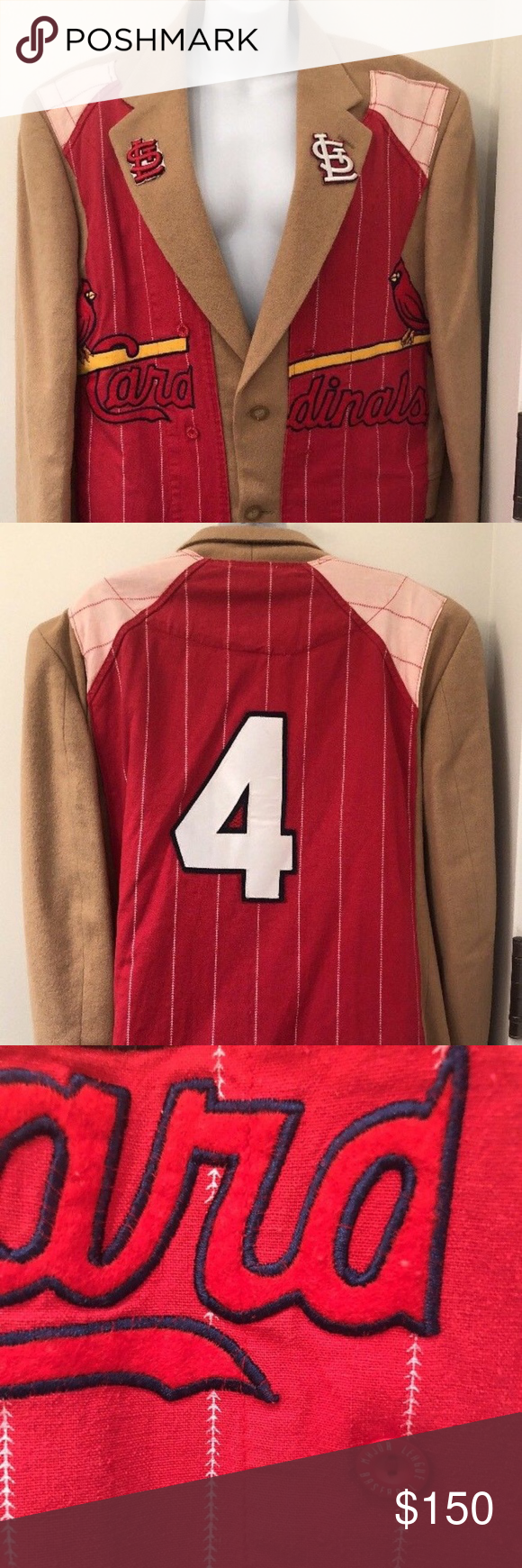 11725f3d6 St Louis Cardinals Jersey custom blazer jacket St Louis Cardinals Jersey  custom blazer jacket Pure camel