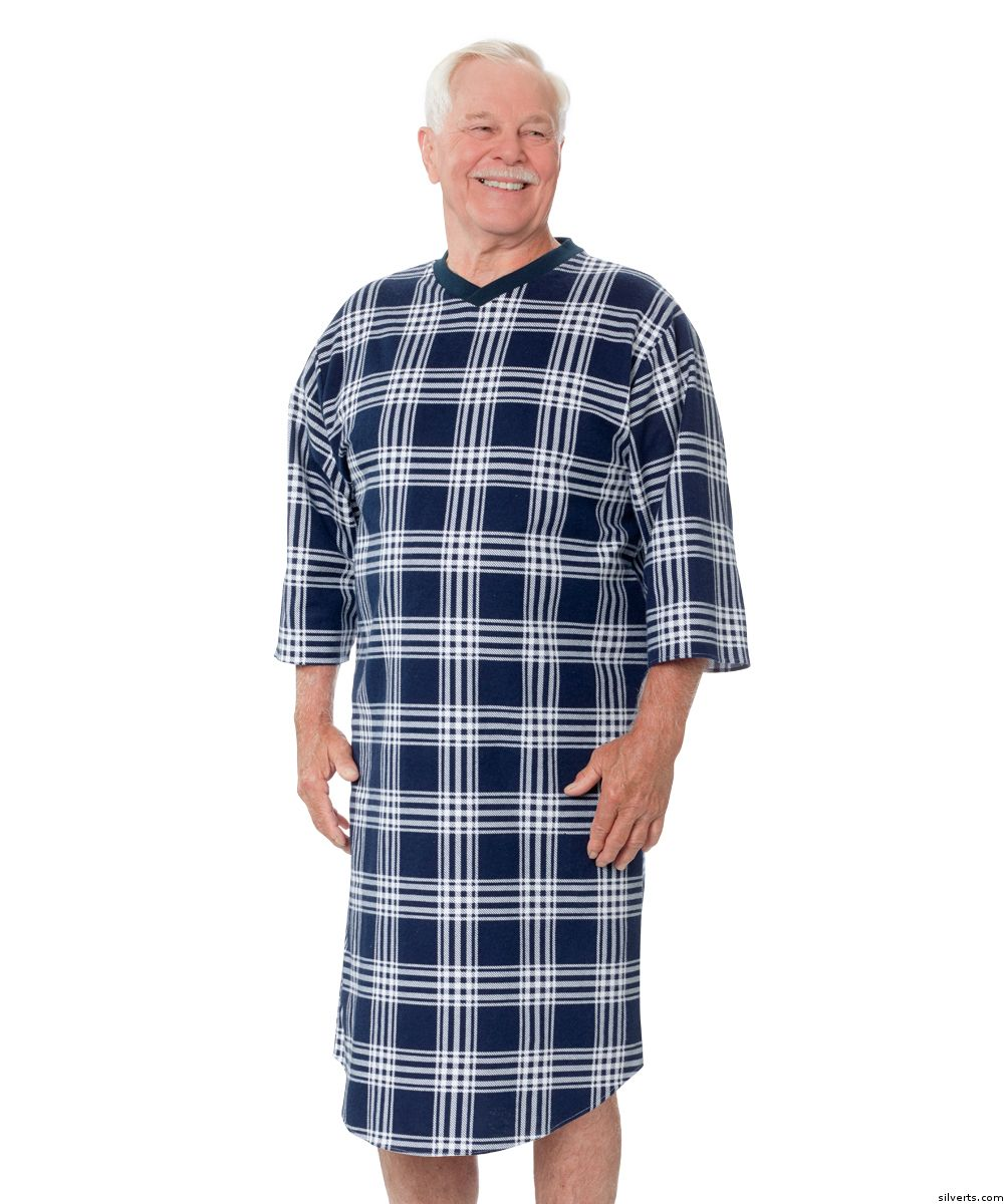 Hospital Gowns - Men\'s Flannel Open Back Adaptive Hospital Patient ...