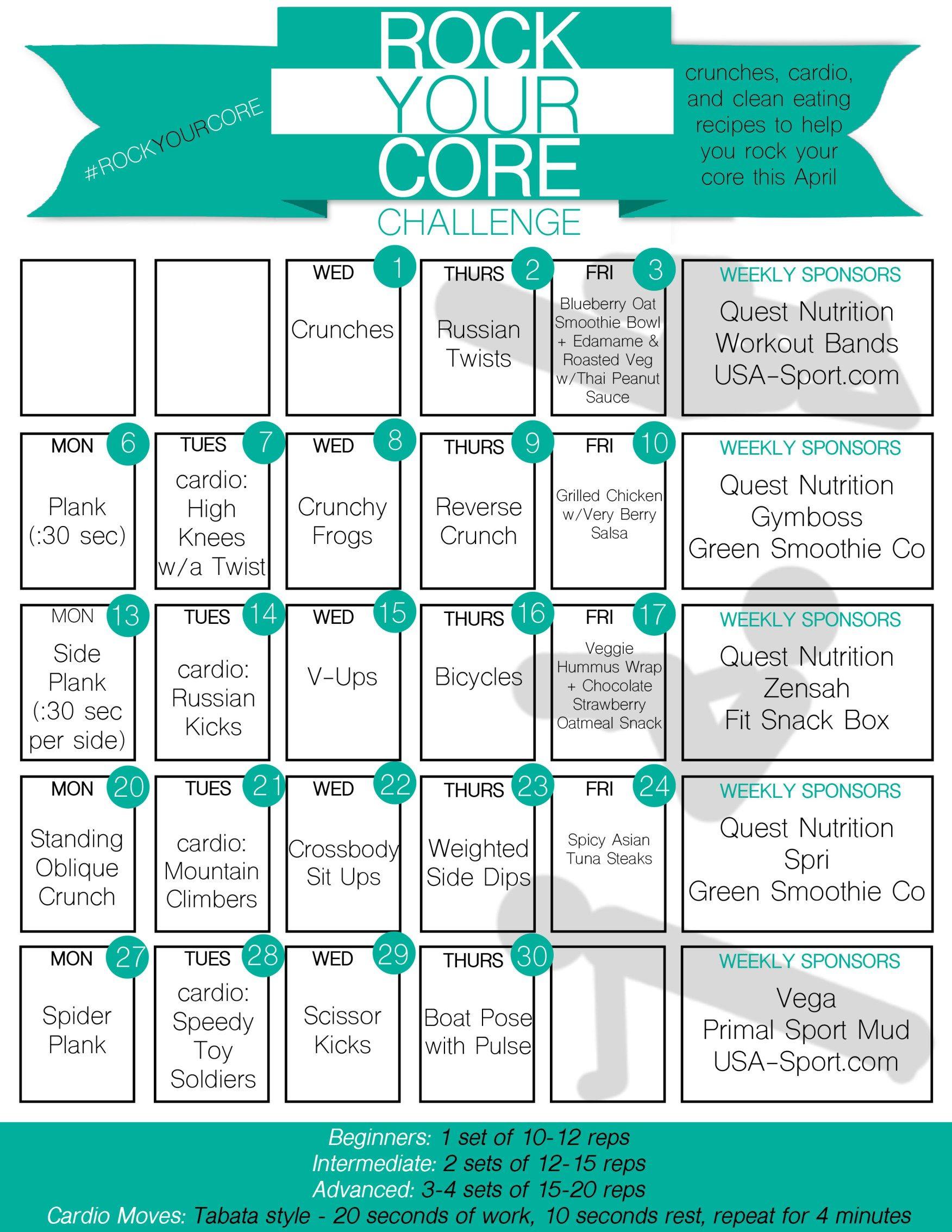 Rock Your Core April Abs Challenge