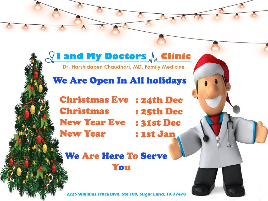 Serving Patients On Holidays   Family medicine, All holidays, Clinic