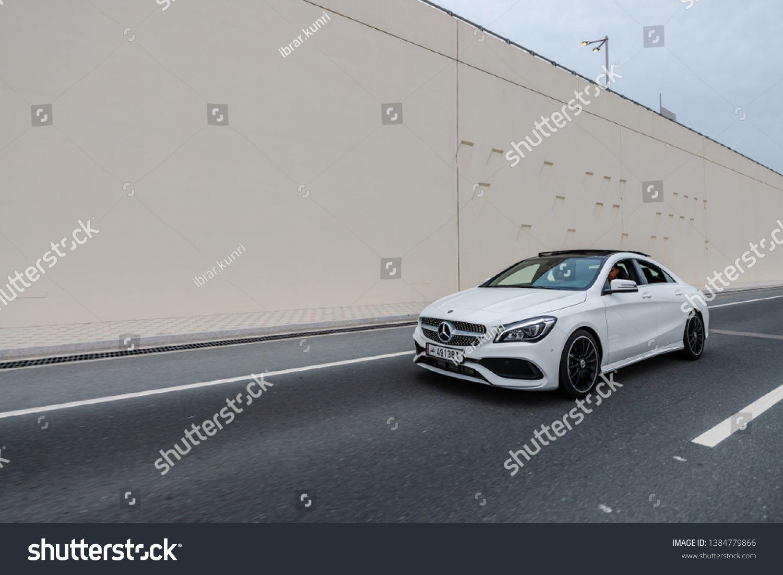 Doha, Doha\u002FQatar - April 24, 2019 : White Mercedes CLA 250 in Doha Qatar #Ad , #SPONSORED, #April#Doha#Dohau002FQatar#Qatar